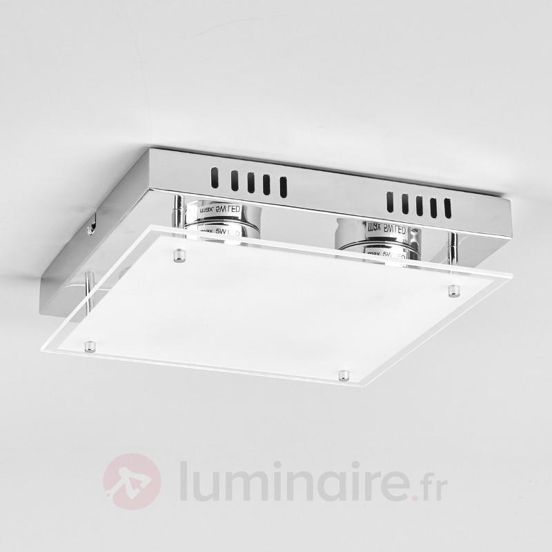 Plafonnier LED carré Bjarne - Plafonniers LED