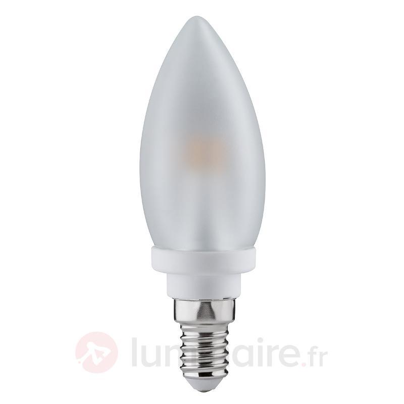 Ampoule flamme LED E14 4W 827 satinée - Ampoules LED E14