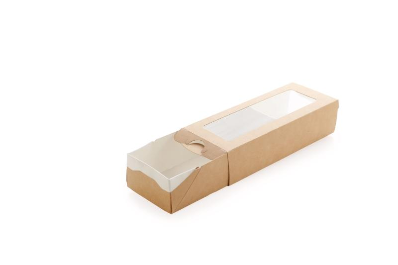 Case - Multipurpose food packaging with transparent window for sushi and rolls