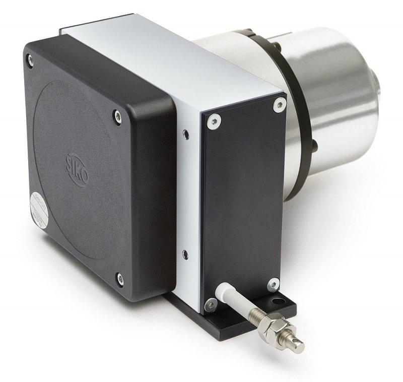 Wire-actuated encoder SG120 - Wire-actuated encoder SG120, robust design with 12 m measurement length