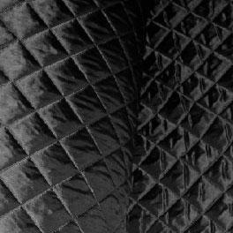 Doublure matelassée polyester 150 cm noir - Toiles / Doublures