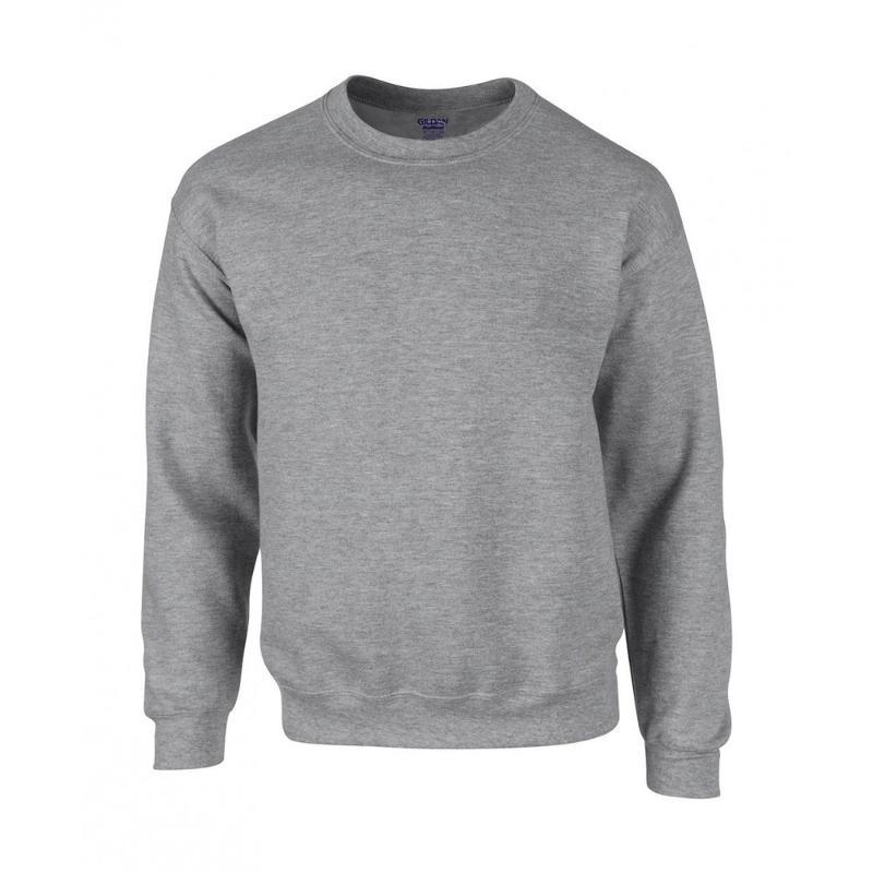 Sweatshirt col en bord côte - Sans capuche