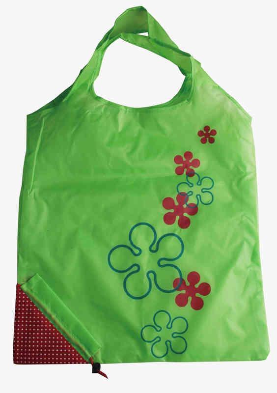 Washable strawberry folding bag - washable,colorfast