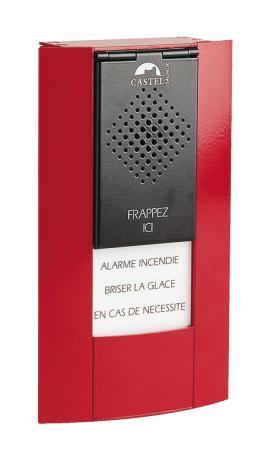 BGPH D - Interphonie de sécurité (CASI) - Boitier d'alarme bris de glace phonique design