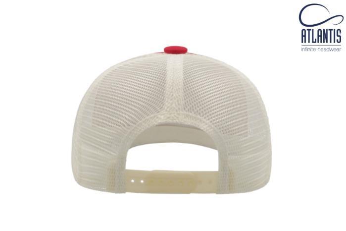 Berretto trucker visiera precurvata e mesh in plastica - Berretto trucker visiera precurvata con retina e regolazione in plastica
