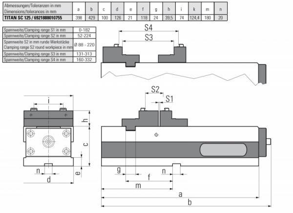 TITAN SC 125 - Der klassische Universalspanner für vertikale 3-Achs-Bearbeitungszentren