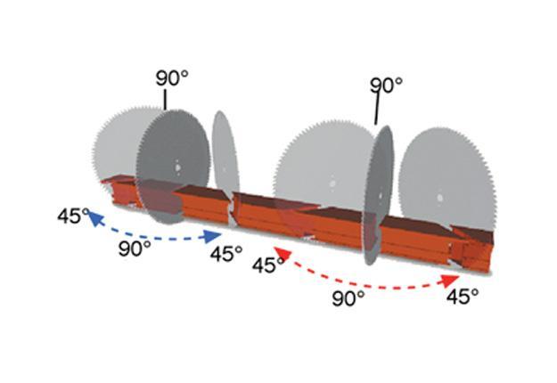 TRONÇONNEUSES DOUBLE-TÊTE ALU - tête à déplacement et orientation manuels - KD 402 S