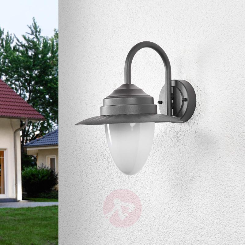 Beeke - LED outdoor wall lamp in dark grey - outdoor-led-lights