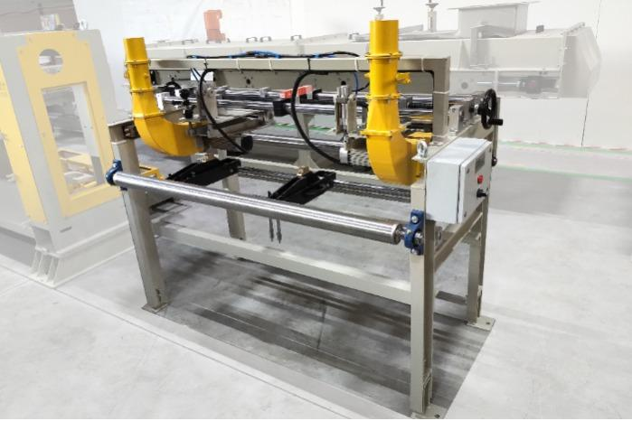 Cardboard Scoring Unit - Cardboard scoring unit of plasterboard production line