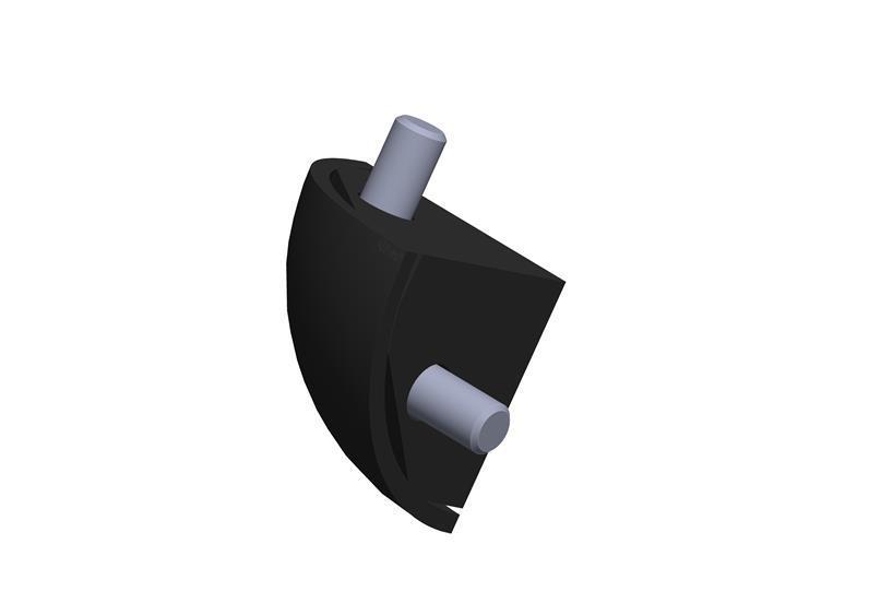 Verbindungssatz 8 R40-90° schwarz -