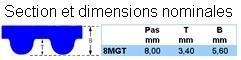 Courroies dentées en neoprène - Courroies Powergrip® GT3 - 8MGT