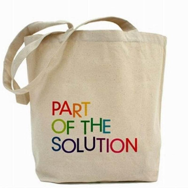Natural Cotton Shopping Bag - 100 % Eco Friendly Cotton Natural Cotton Shopping Bag