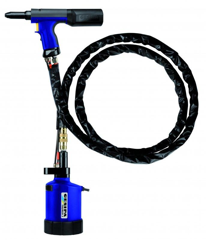 TAUREX 1 - 6 (Hydro-pneumatic blind rivet setting tool) - The whole TAURUS® series with remote pressure transducer