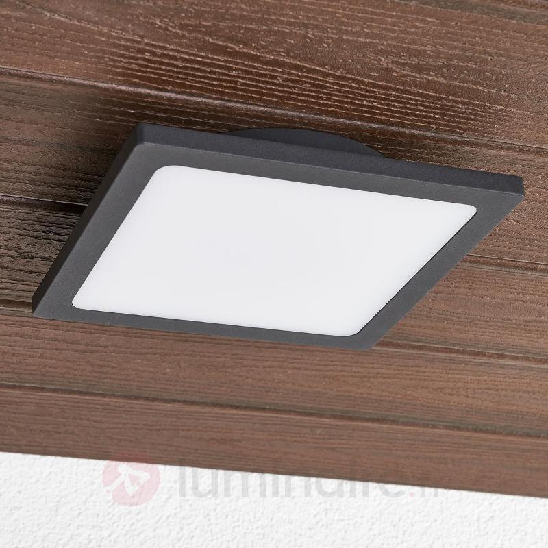 Plafonnier d'extérieur LED Mabella en gris foncé - null