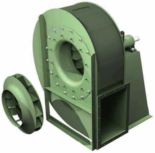 GFJ • Ventilateur haute pression type GFJ - Transmission poulie courroie - null