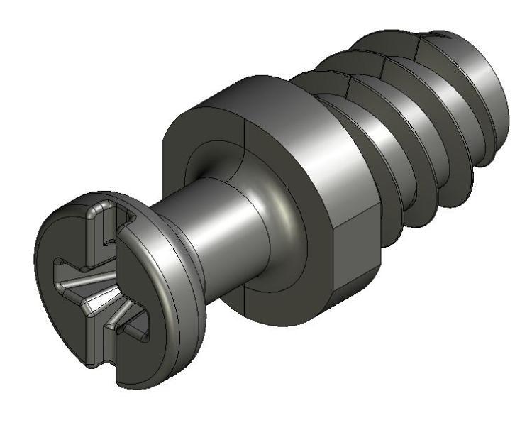 Eurobolzen AZ 20/AZ 21 - Zamak - 3,6mm Hals - blank - 2mm Ko - Bolzen AZ 20/21 - AZ 2 (7 mm)