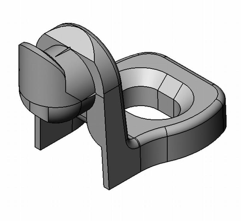 Rückwandhalter kurz Klick - Zamak - blank - Rückwandhalter