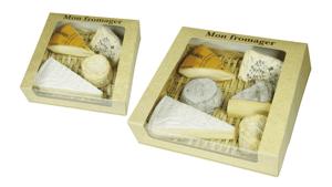 Boîte carton avec fenêtre pour fromages