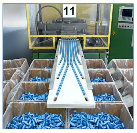 Industrielle Flaschenproduktion -