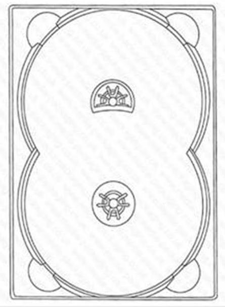 DVD Digitray für 2 Discs - transparent -kartoniert - Digitrays