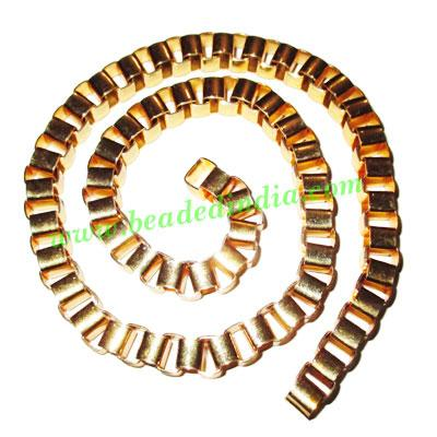 Gold Plated Metal Chain, size: 8mm, approx 7 meters in a Kg. - Gold Plated Metal Chain, size: 8mm, approx 7 meters in a Kg.