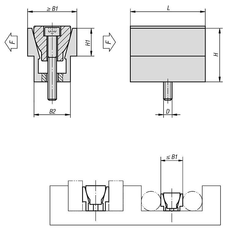 Mors de serrage - Système de bridage multiple