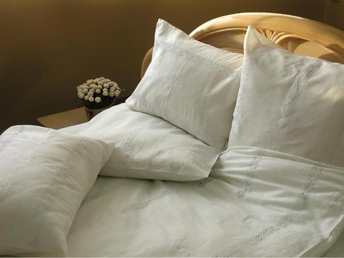 """Bed line set """"Waterfall white"""" -"""