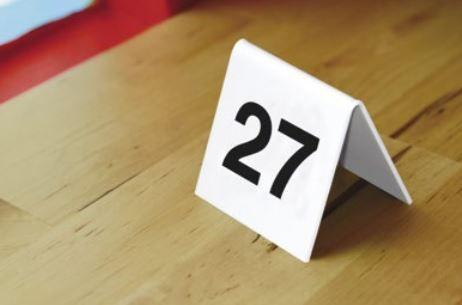 Chevalets de table empilables 10 numéros - Chevalet de Table