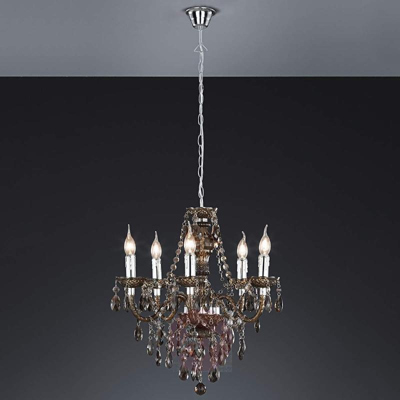 Sparkling Perdita chandelier, black - Chandeliers