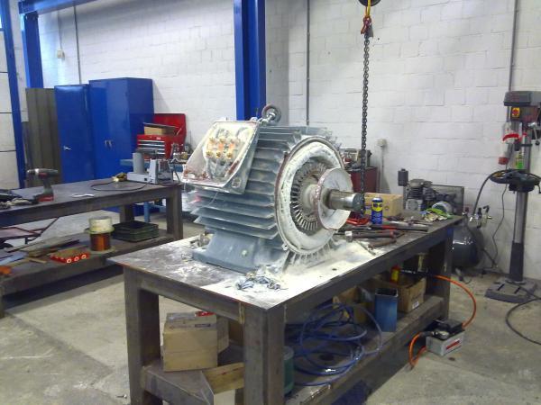 Révision moteur à cage - Maintenance électro-mécanique en atelier