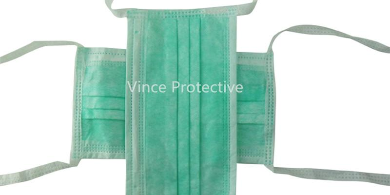 Face mask with tie -