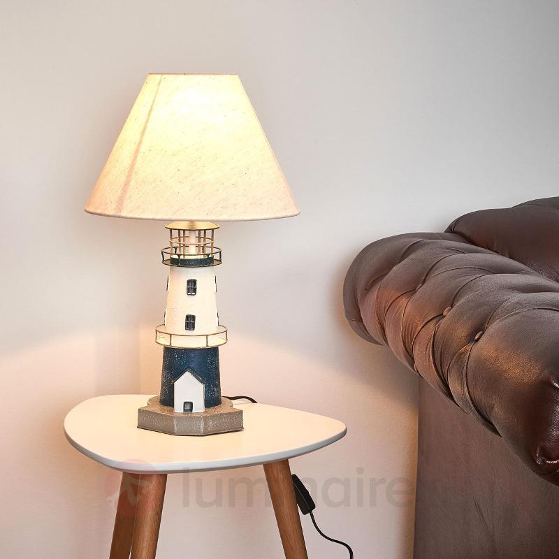 Lampe à poser Piet en forme de phare - Lampes à poser en tissu