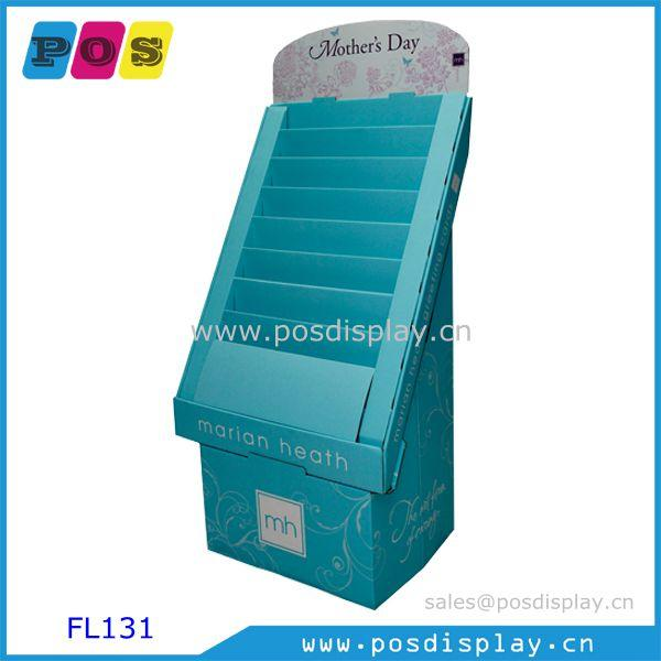 Greeting cards floor display - corrugated paperboard floor display with flat packing