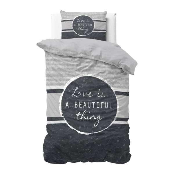 Bombažna posteljnina Beautiful Thing Navy - modra - Čas je za popolno razvajanje z moderno bombažno posteljnino! Posteljnina Beautif