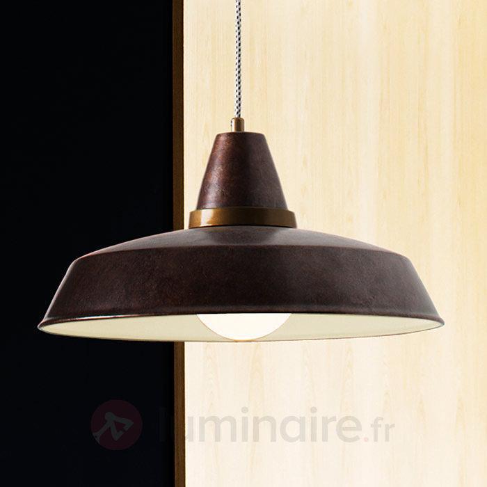 Suspension design Vintage rouille 1 lampe - Cuisine et salle à manger