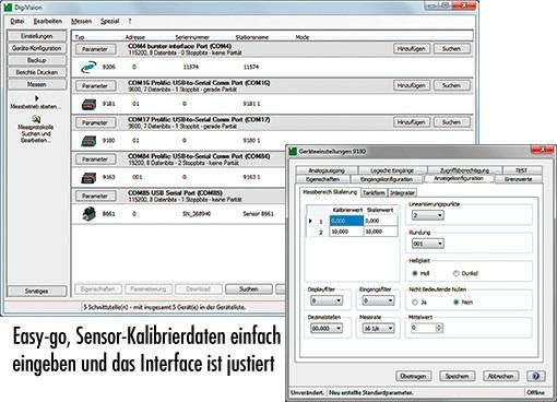 DigiVision - PC Software - Software for the acquisition of measuring data, analysis, display,documentation