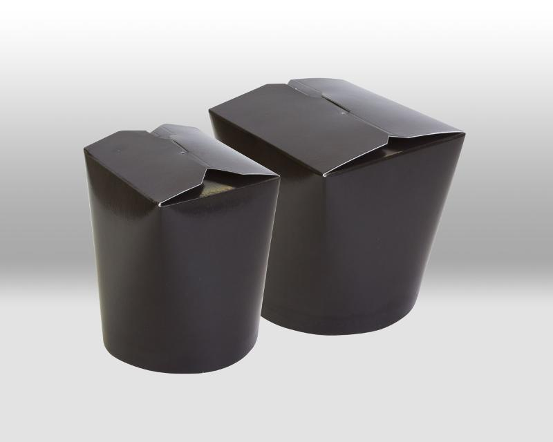 Black Paper Noodle Boxes - PACKAGING FOR TAKEAWAY
