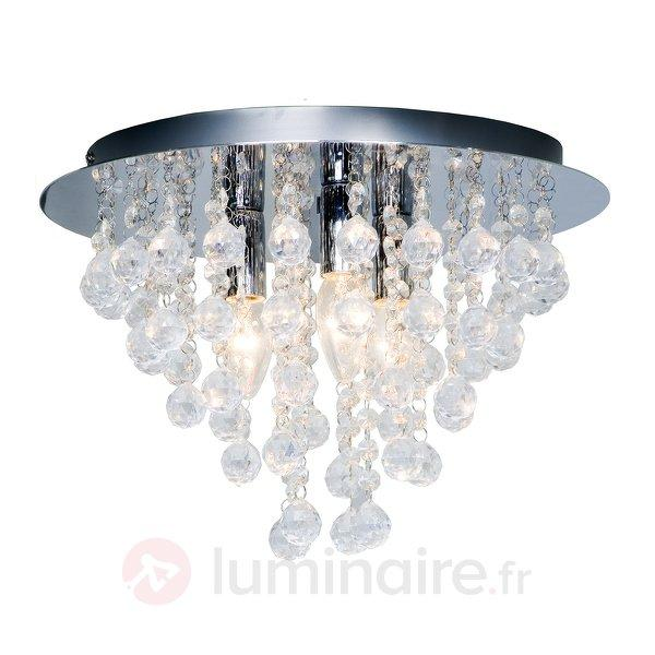 Plafonnier LONDEN à 3 lampes - Plafonniers chromés/nickel/inox