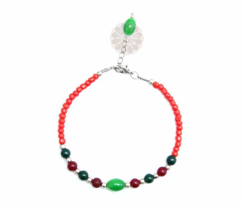 Designer Multicolor Bead Anklet -