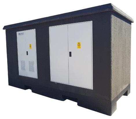 Моноблочный бетонный павильон. - Производство киоска