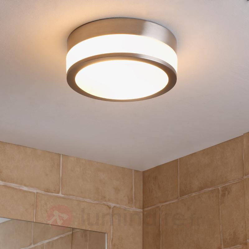 Plafonnier de salle de bain Flavi, nickel mat - Salle de bains