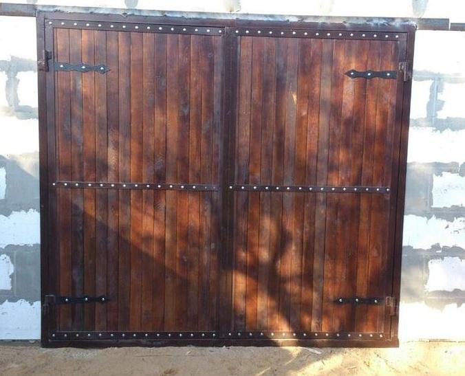 Ворота - Ворота гаражные из дерева