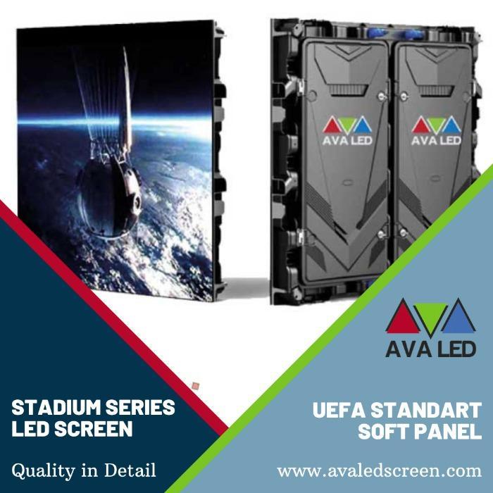 Informační obrazovky stadionu - Informace o vysokém rozlišení Zobrazuje se LED AVA