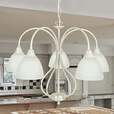 Suspension Antonella courbée à 5 lampes - Suspensions rustiques