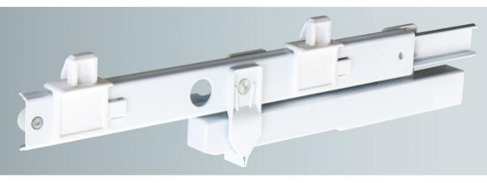 ITS 010 Partial extension drawer slide 25 kg - 27,2 x 10 mm telescopic slide hot-dip galvanized steel length 100 - 500 mm