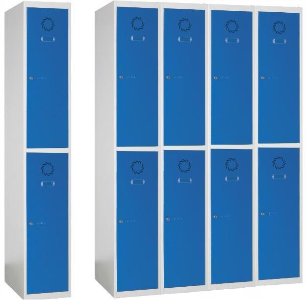 Taquillas metálicas para vestuario - Taquillas metálicas con  8 puertas, 4 columnas de 1000x500x1800 m/m.