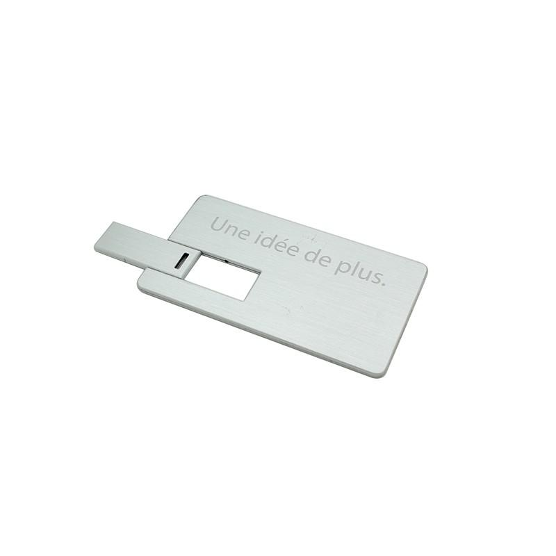 Cle USB Carte Mini Alu - Clé USB carte