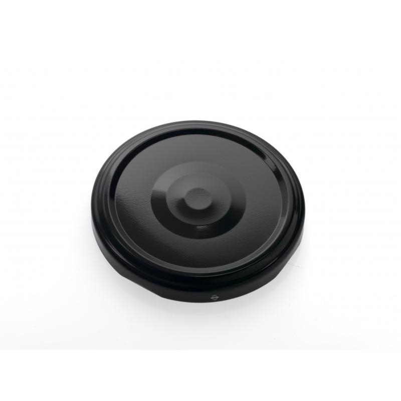 100 capsules diamètre 53 mm noires Stérilisables avec flip - NOIR