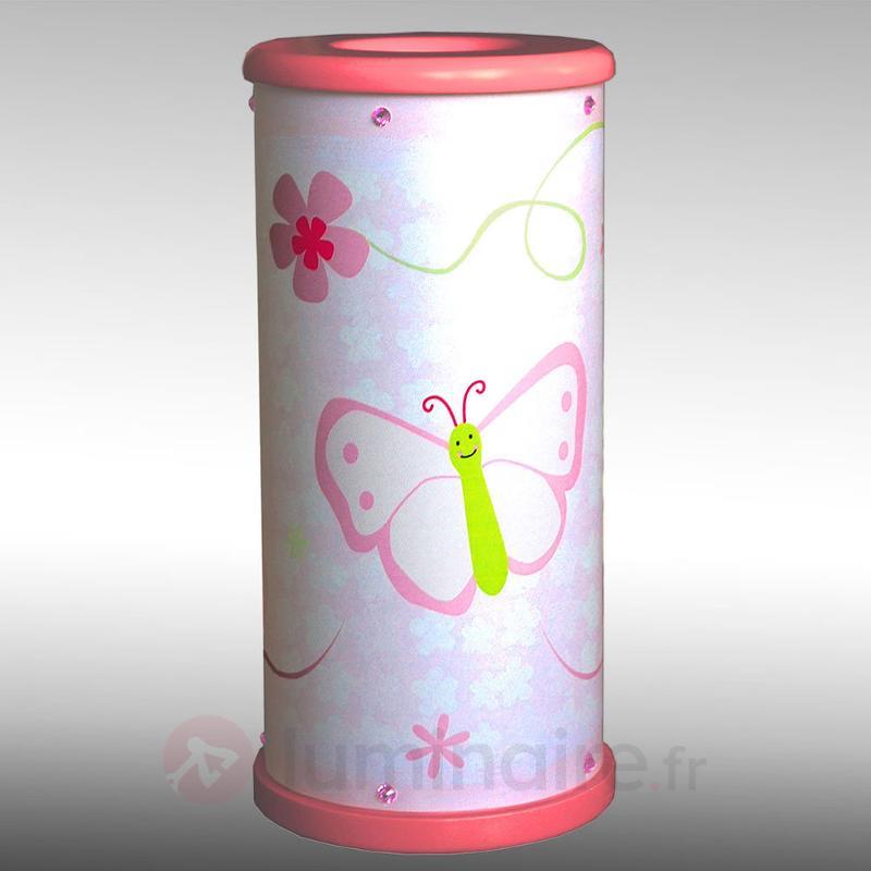 Lampe à poser LED Papillon pr la chambre d'enfants - Chambre d'enfant