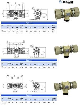 Clapet anti-retour - type EA, EC - 49.0xx.x26